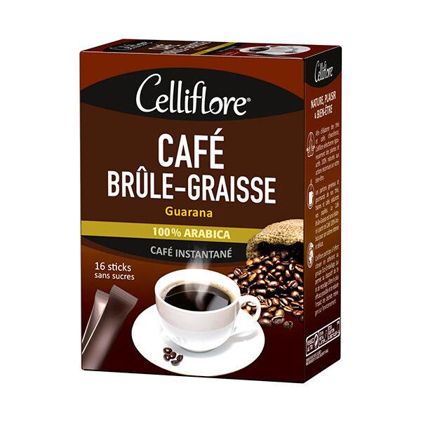 Celliflore Café Brûle Graisse Guarana 16 sticks