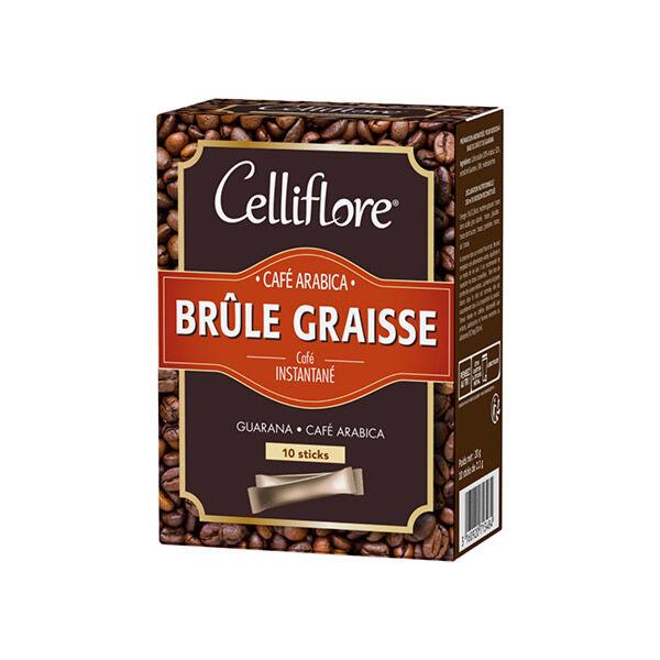 Celliflore Café Instantané Arabica Brûle Graisse 10 Sticks