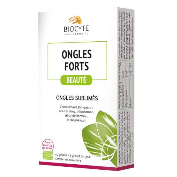 Biocyte Ongles Forts 40 gélules