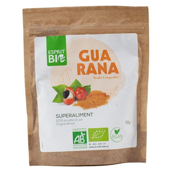 Esprit Bio Superaliment Guarana Poudre Brute 100g
