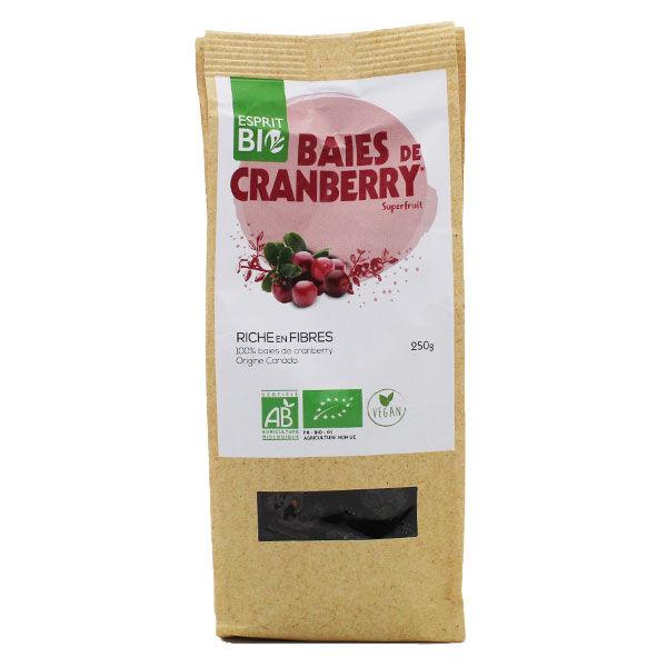 Esprit Bio Superfruit Baies de Cranberry Bio 250g