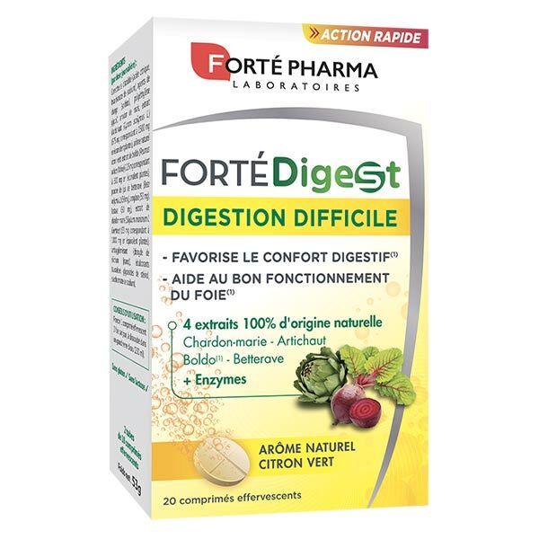 Forté Pharma Forté Digest Digestion Difficile 20 comprimés effervescents