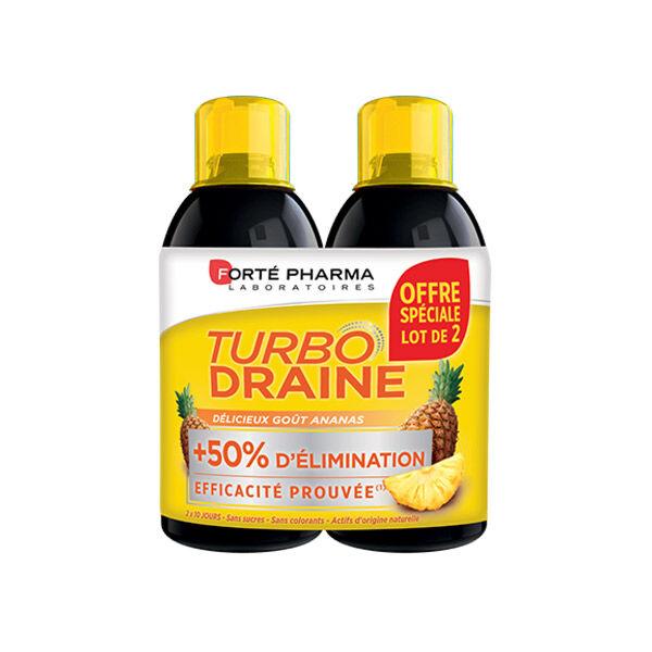 Forté Pharma Turbodraine Ananas Lot de 2 x 500ml