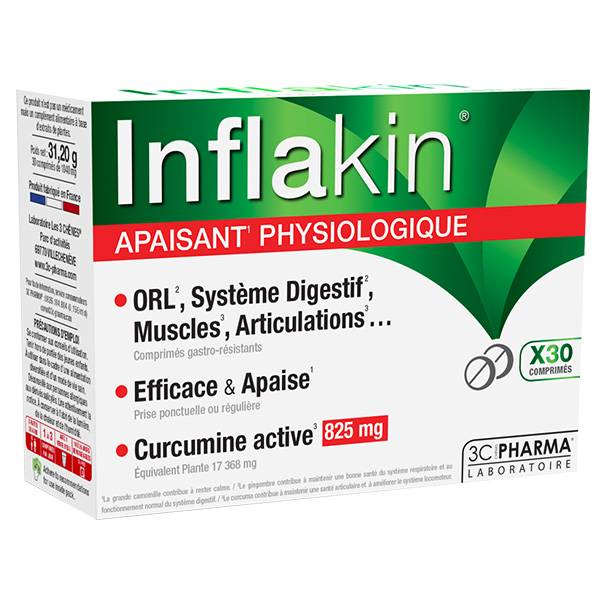 3 C Pharma 3C Pharma Inflakin 30 comprimés