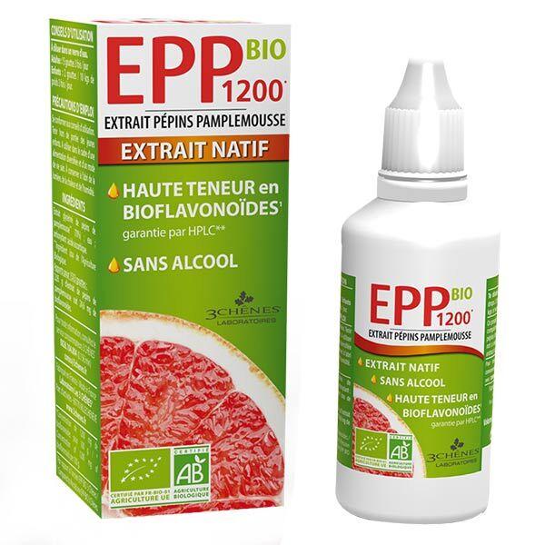 Les 3 Chenes Les 3 Chênes EPP Bio 1200 Extrait Pépins de Pamplemousse 50ml