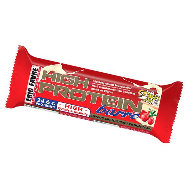 Eric Favre High Protein Barre Cranberries Chocolat Blanc 80g