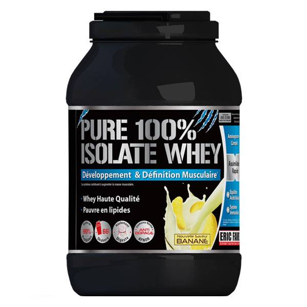 Eric Favre Pure 100% Isolate Whey Banane 2kg