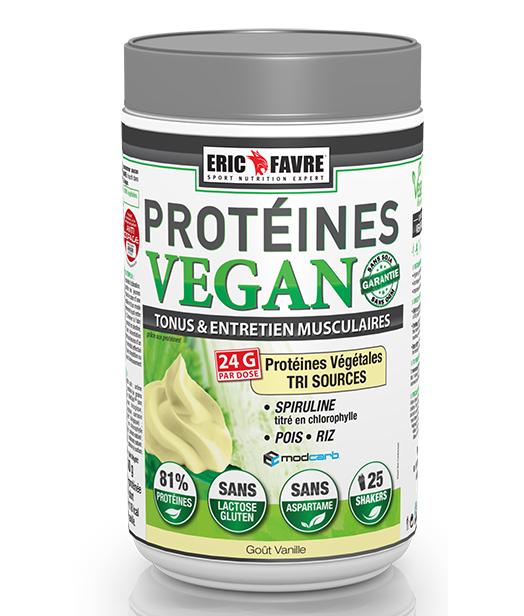 Eric Favre Protéines Vegan Goût Vanille 750g