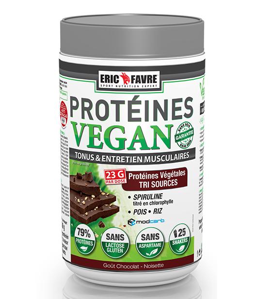 Eric Favre Protéines Vegan Goût Chocolat Noisette 750g