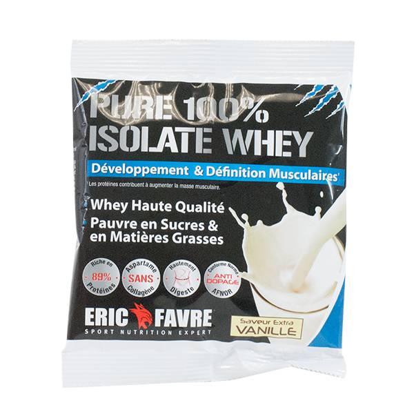 Eric Favre Pure 100% Isolate Whey Saveur Extra Vanille 30g