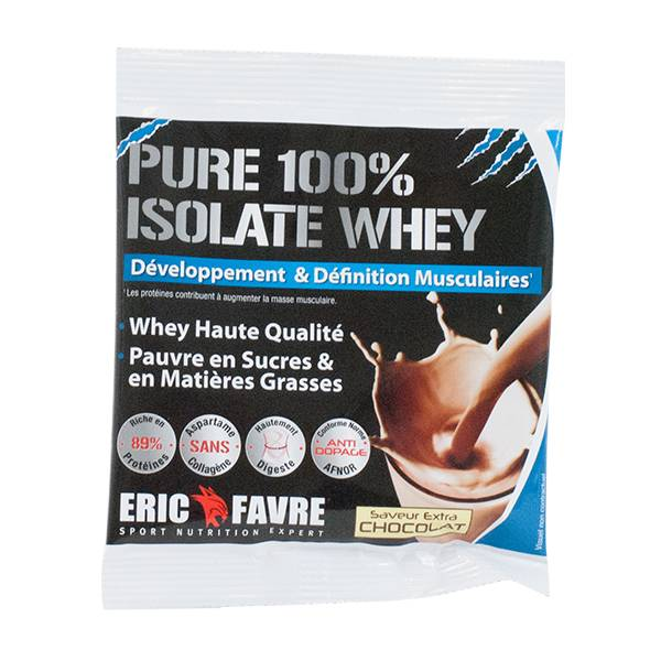 Eric Favre Pure 100% Isolate Whey Saveur Extra Chocolat 30g