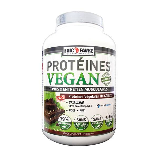 Eric Favre Protéines Vegan Chocolat Noisette 2kg