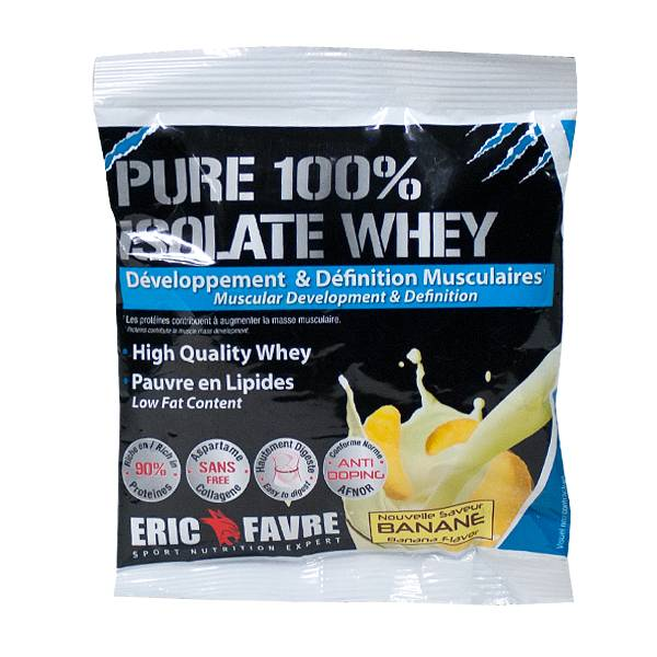 Eric Favre Pure 100% Isolate Whey Saveur Banane 30g