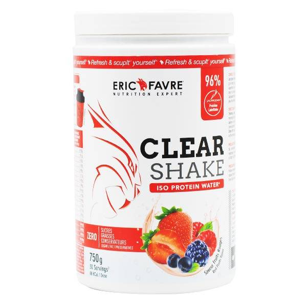 Eric Favre Clear Shake Iso Protein Water Fruits Rouges 750g