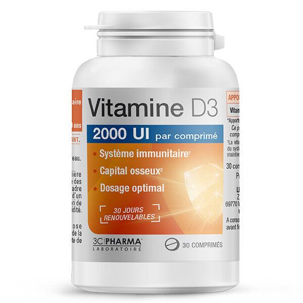 3 C Pharma Vitamine D3 30 comprimés