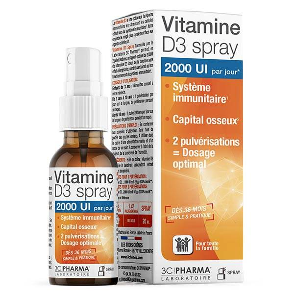 3C Pharma Vitamine D3 Spray 20ml