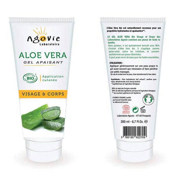 Agovie Aloe Vera Gel Apaisant Bio 200ml