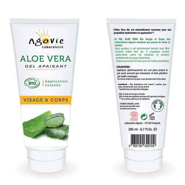 Agovie Aloe Vera Gel Apaisant Bio 200ml