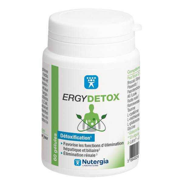 Nutergia Ergydétox 60 gélules