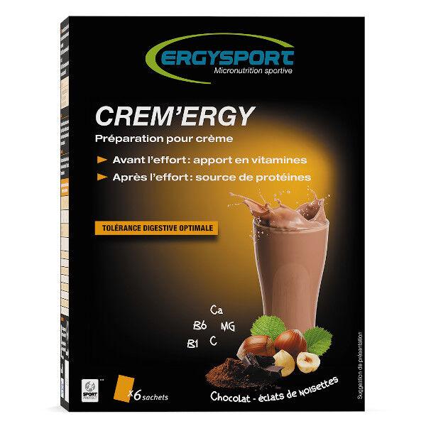 Nutergia Ergysport Creme'rgy Chocolat Noisette 6 sachets