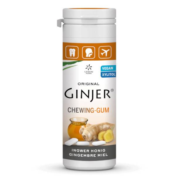 Lemon Pharma Ginjer Chewing-Gum Gingembre Miel 30g