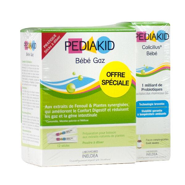 Pediakid Bébé Gaz 12 sticks + Colicillus Bébé 10ml