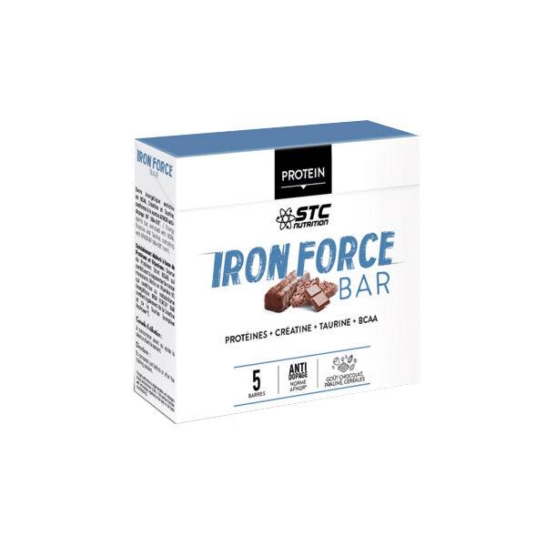 STC Iron Force Bar Saveur Chocolat Praliné 5 Unités