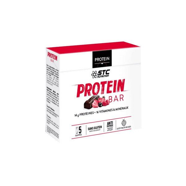 STC Nutrition Protein Bar Saveur Fruits Rouges 5 Unités