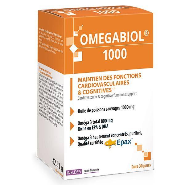 Ineldea Santé Naturelle Omegabiol 1000 60 capsules