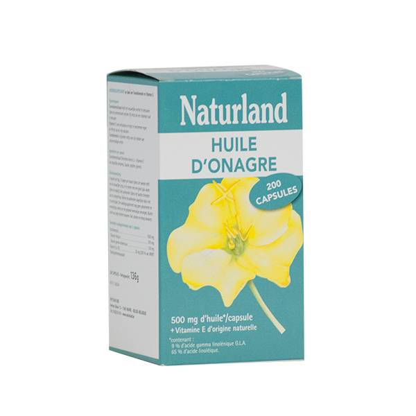 Naturland Huile d'Onagre Bio 200 capsules