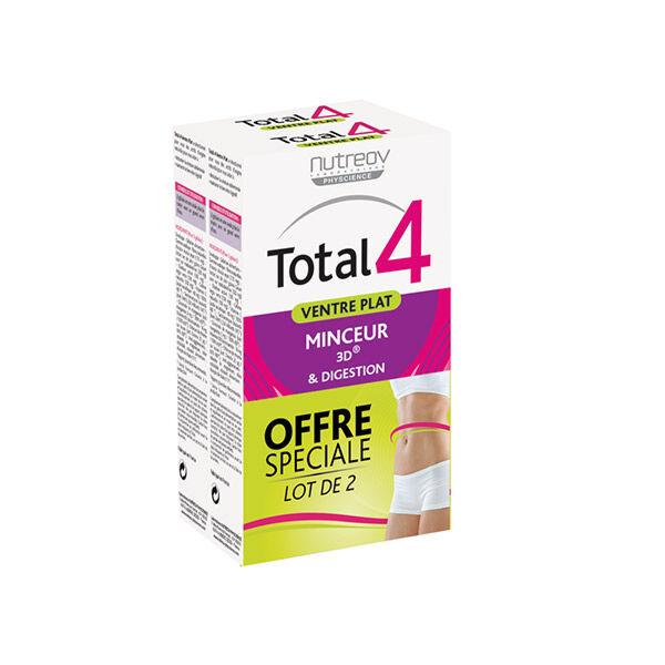 Nutreov Physcience Total 4 ventre Plat Lot de 2 x 30 gélules