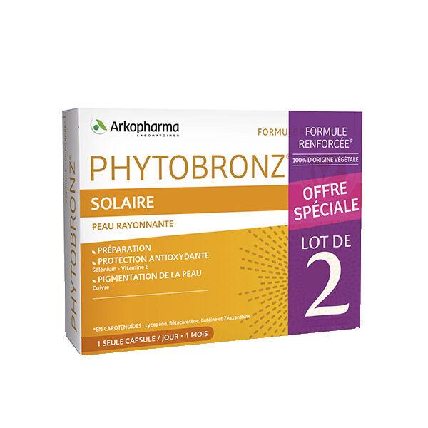 Arkopharma Phytobronz Préparateur Solaire Huiles Végétales Lot de 2 x 30 capsules