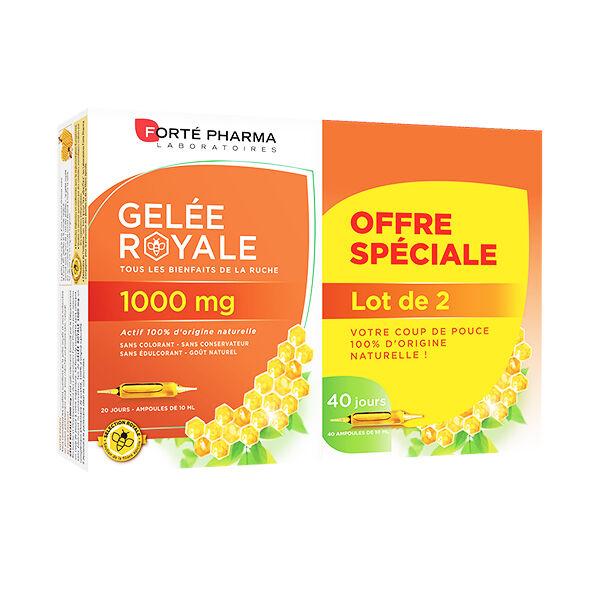 Forté Pharma Gelée Royale 1000mg Lot de 2 x 20 ampoules