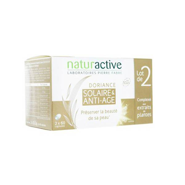 Naturactive Doriance Solaire et Anti-age Lot de 2 x 60 capsules