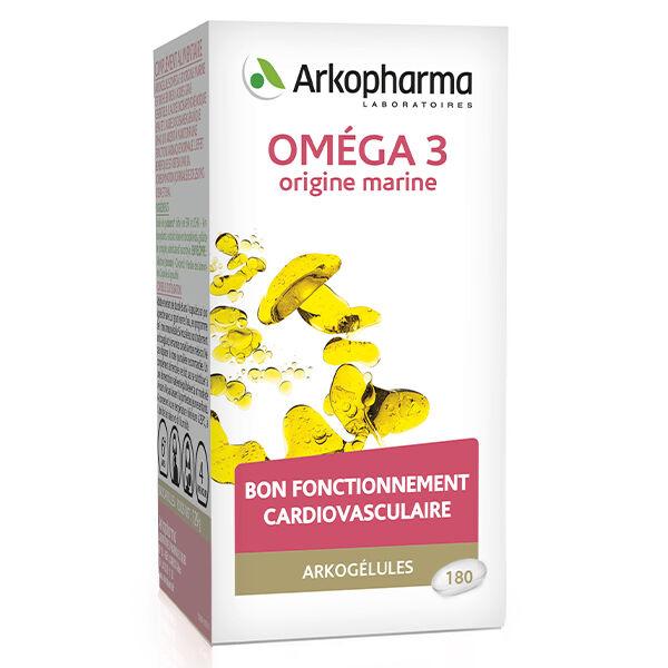 Arkopharma Arkogélules Omega 3 Origine Marine 180 capsules