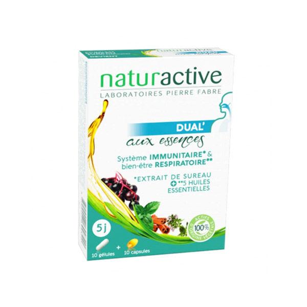 Naturactive Dual' Système Immunitaire et Bien Etre Respiratoire 10 gélules + 10 capsules