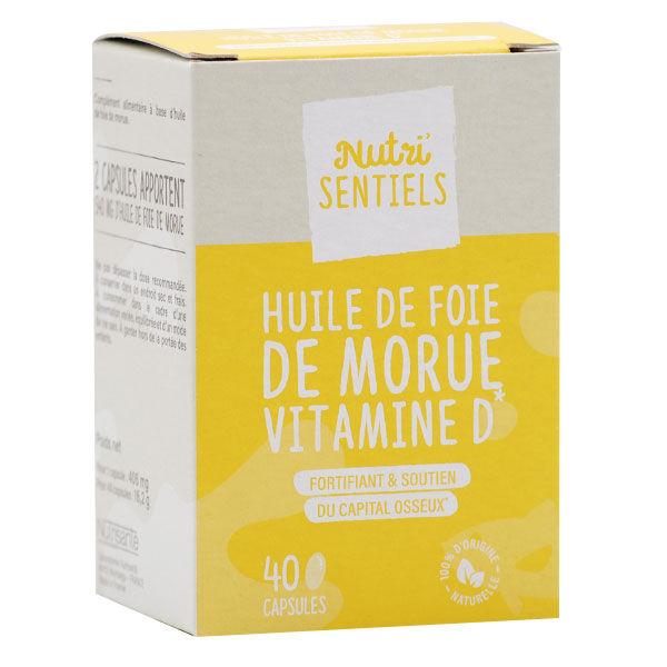 Nutrisanté Huile de Foie de Morue 40 capsules