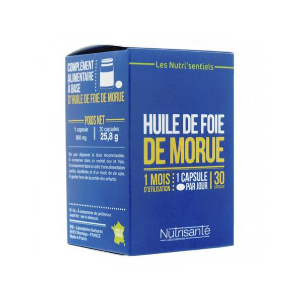 Nutrisanté Huile de Foie de Morue 30 capsules
