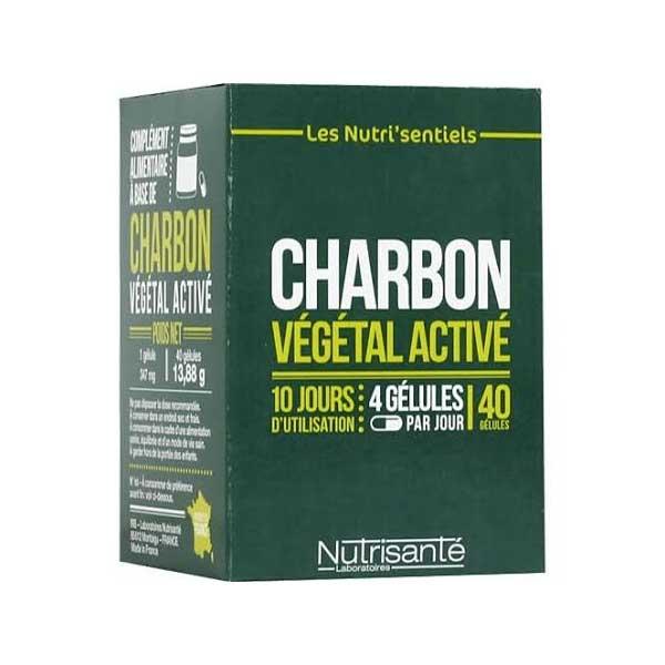 Nutrisanté Charbon Végétal Activé 40 gélules