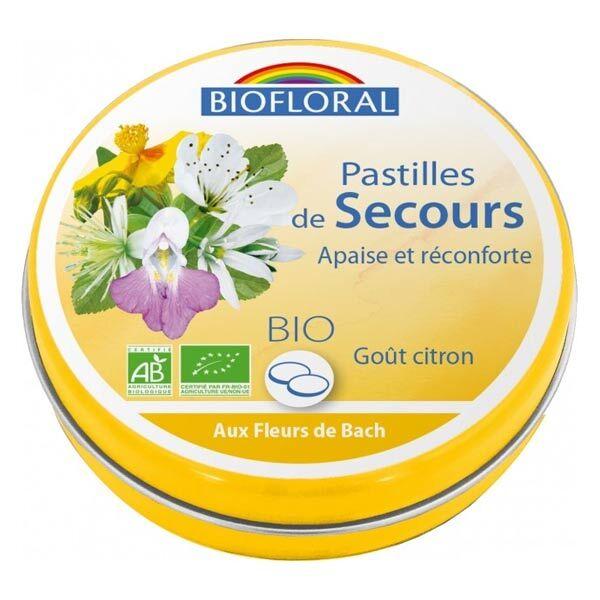 Biofloral Pastilles de Secours Sans Alcool Format Familial 50g