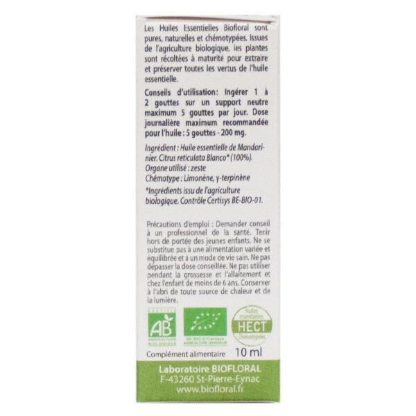 Biofloral Huile Essentielle Mandarine Bio 10ml