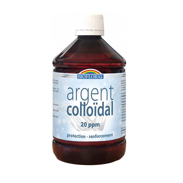 Biofloral Argent Colloidal 20 ppm flacon 500ml