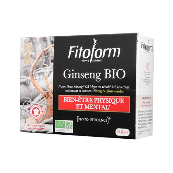 Fitoform Ginseng Bio Ab Ecocert 60 comprimés