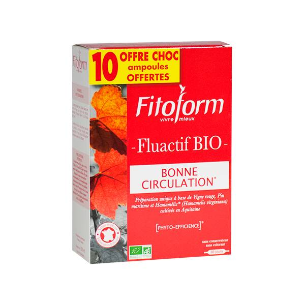 Fitoform Fluactif Bio 20 ampoules + 10 Offertes