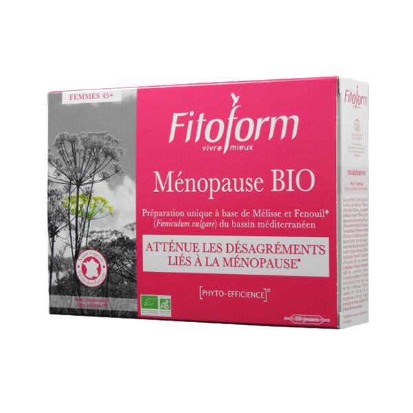 Fitoform Ménopause Bio Ab Ecocert 20x10ml