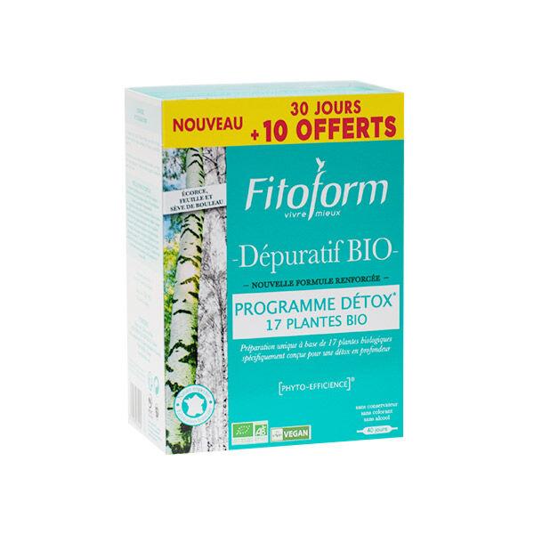 Fitoform Dépuratif Bio Lot de 2 x 20 ampoules + 10 offertes