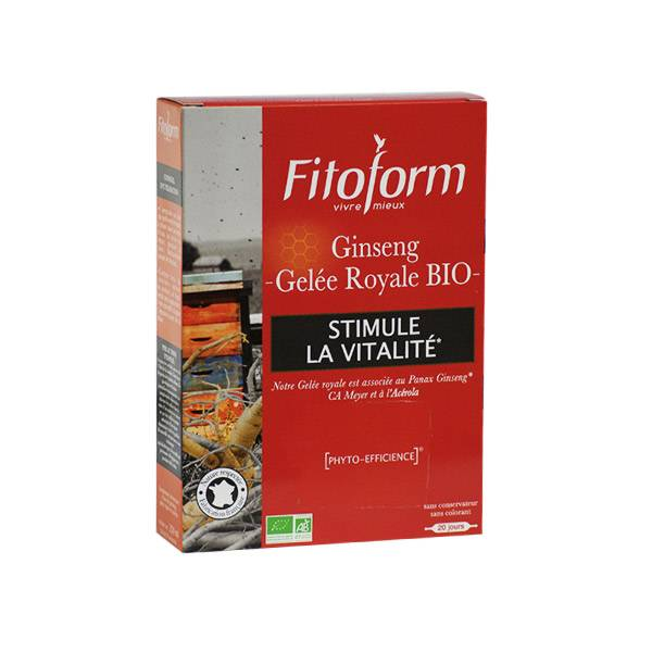Fitoform Ginseng Gelée Royale Bio 20 ampoules
