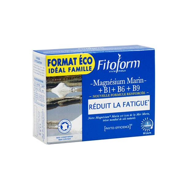 Fitoform Magnésium Marin + B1 + B6 + B9 60 comprimés