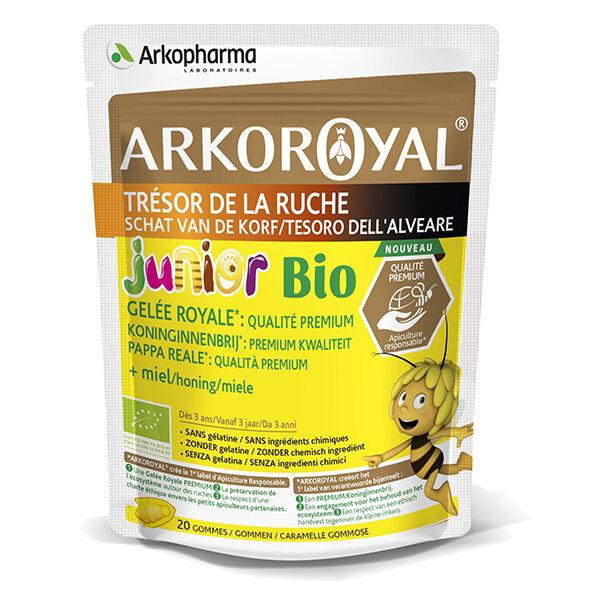 Arkopharma Arkoroyal Défenses Naturelles Junior Gelée Royale Miel 20 gommes