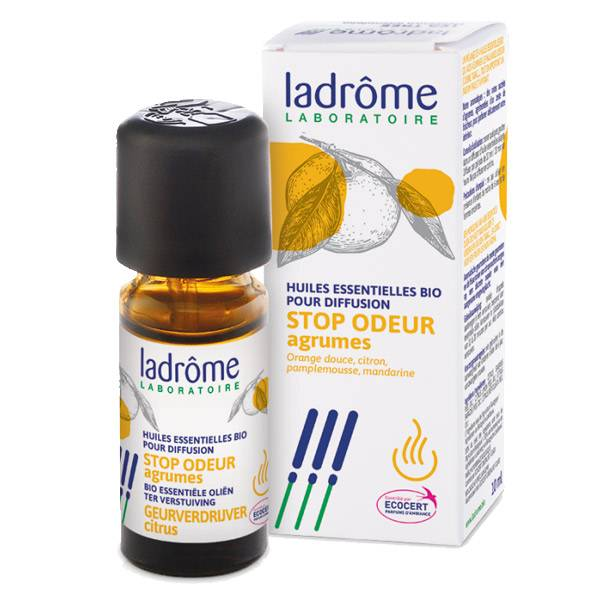 Ladrome Diffusion Stop Odeur Agrume Bio 10ml